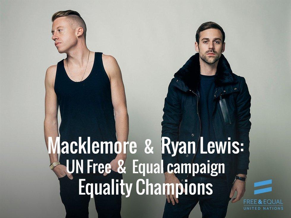 NO FREEDOM 'TIL WE'RE EQUAL, MACKLEMORE & RYAN LEWIS SUPPORT IT!