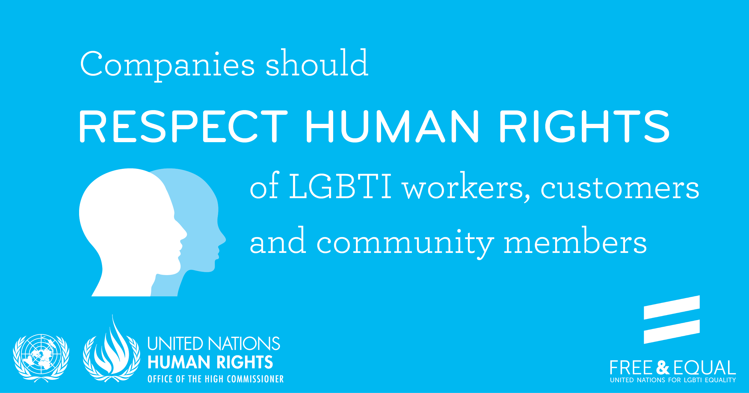 Companies should respect the human rights of their LGBTI workers, customers and community members.