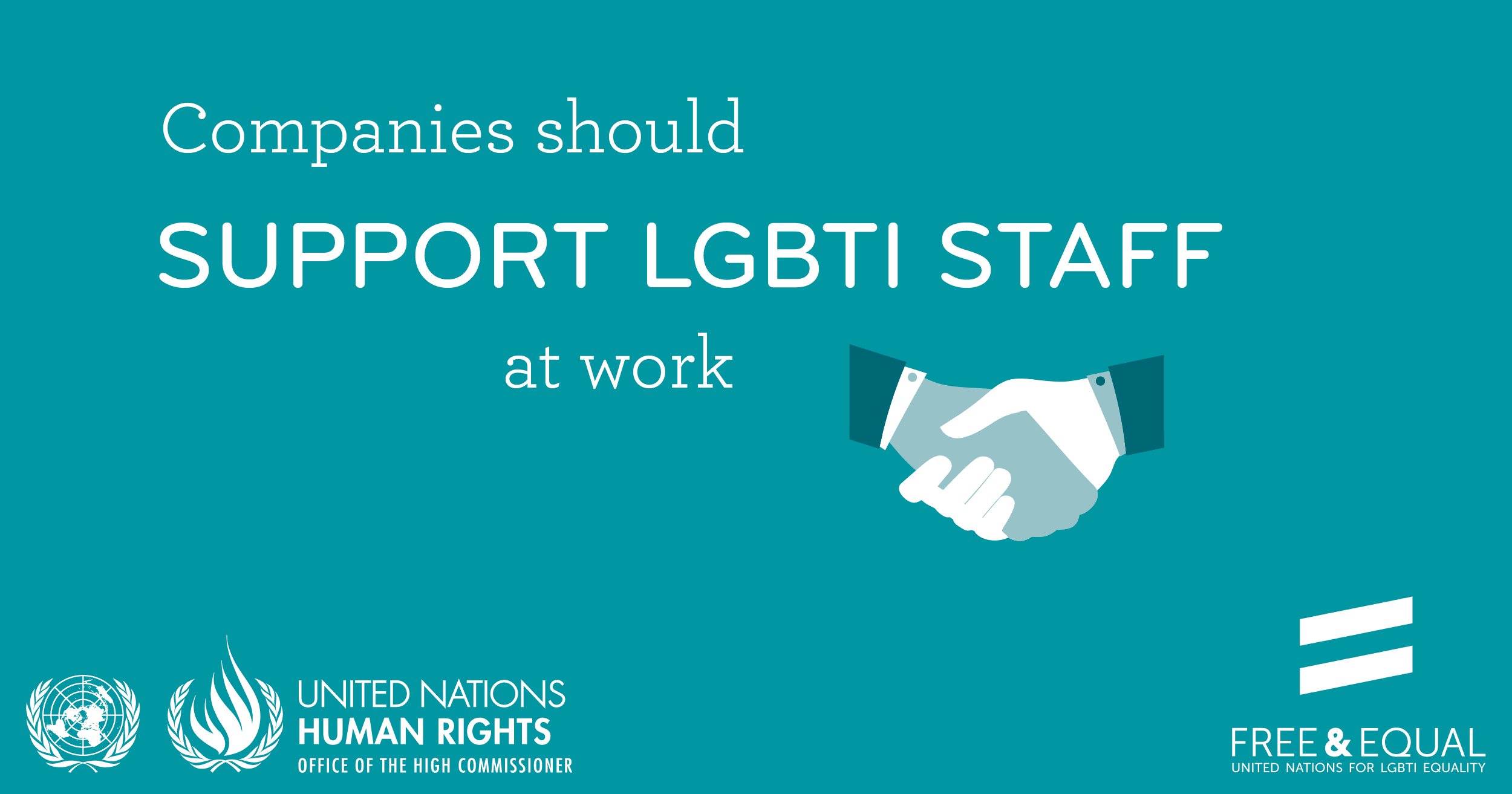 Companies should support LGBTI staff at work.